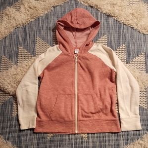 Pink and White hoodie size Medium